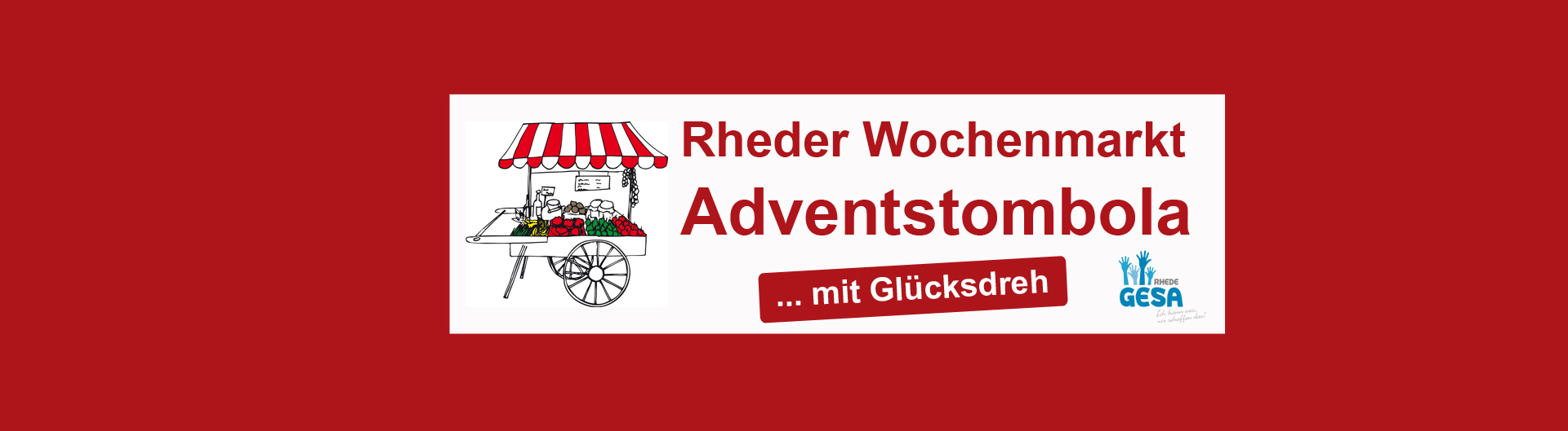 Adventstombola Wochenmarkt