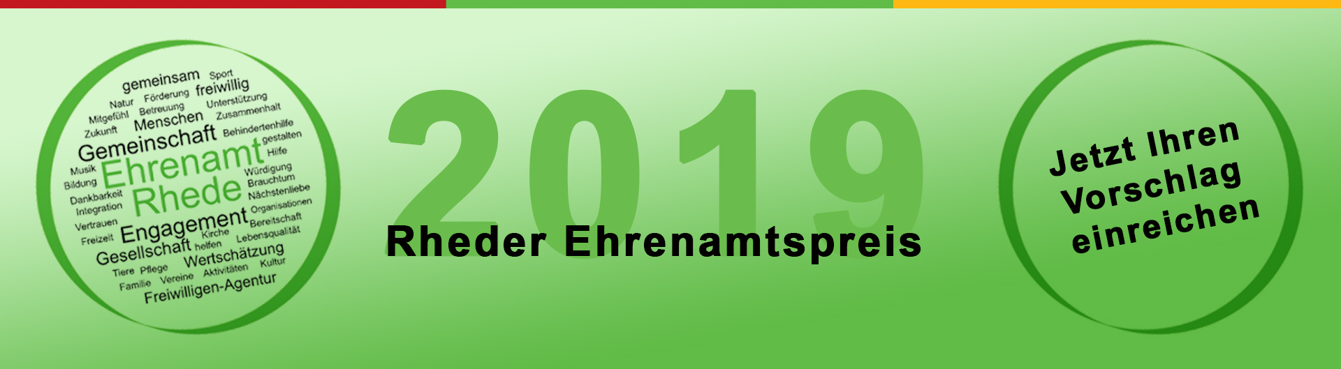 Rheder Ehrenamtspreis 2019