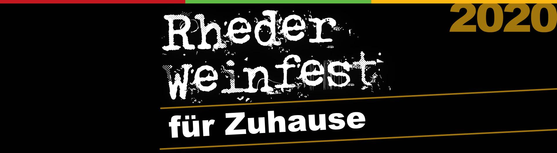Rheder Weinfest für Zuhause