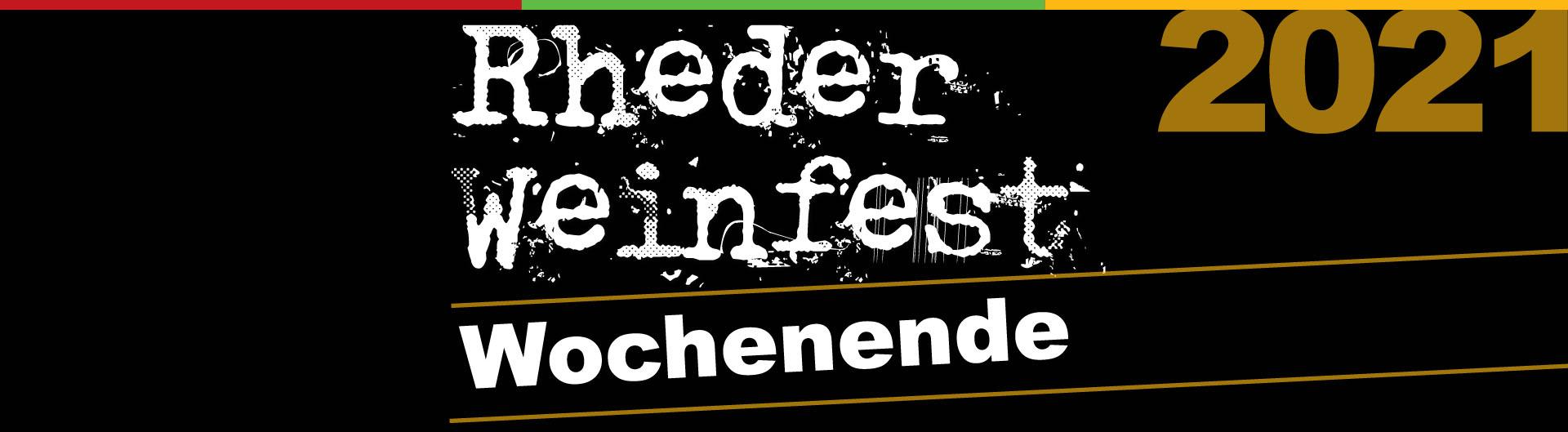 Rheder Weinfest-Wochenende 2021