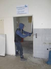Arbeiter Tür Schulzentrum©Stadt Rhede