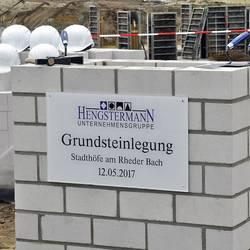 Grundsteinlegung©Stadt Rhede