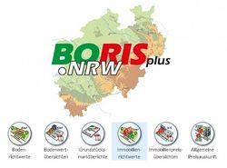 Karte  BORISplus.NRW©Daten der Gutachterausschüsse für Grundstückswerte NRW 2018, dl-de/by-2-0
