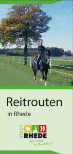 Flyer: Reitrouten in Rhede©Stadt Rhede