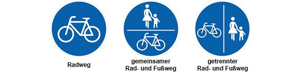 Radwegekennzeichnungen©Stadt Rhede